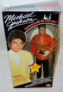 Michael Jackson American Music Awards Doll #7800 Boxed 1984 + Book