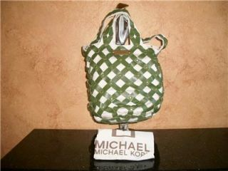 Michael Kors Green Leather Sac Bag Tote Purse Handbag