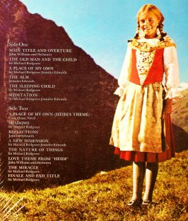 TV OST Heidi John Williams 1968 Capitol SEALED