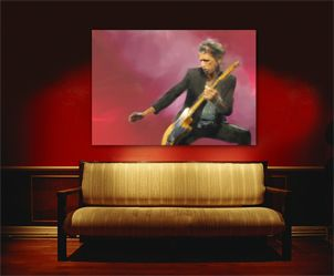 Rolling Stones Keith Richards Gemälde Bild Painting