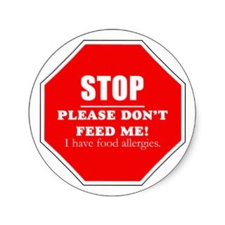 Stop sign. Please dont feed me sticker.