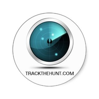 TRACKTHEHUNT   Silver Radar & Deer Tracks Sticker
