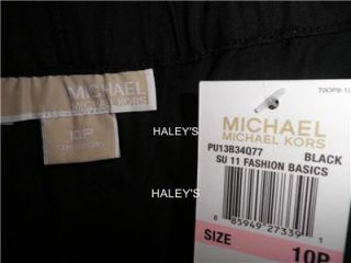 New Michael Michael Kors Petite Black Pants Size 10P