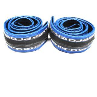 Pair Michelin Pro 4 Tire 700 x 23c Services Course Blue Clincher Bike