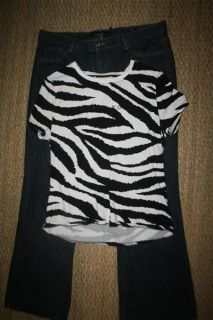 Size 16 Calvin Klein Flare Fit Jeans and XL Michael Kors Zebra Print