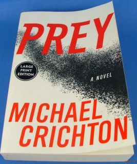 Michael Crichton Prey Novel Large Print Soft Cover 0060536985