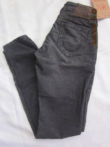 True Religion Womens Jeans Shannon Mid Rise Skinny Fit Corduroy Size