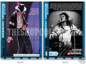 Michael Jackson 5 Cards Platinum Edition Card XX 20