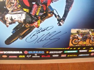 Brett Metcalfe Signed Autographed Poster Rockstar Makita Suzuki