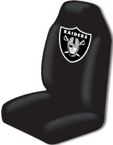 Raiders Car Seat Covers Steering Wheel Cover Set