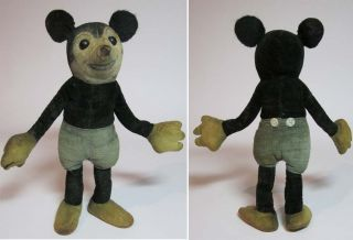 Micky Maus   Mickey Mouse   20 cm   Stofffigur Samt   Deans Rag Book