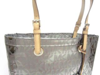 Michael Kors Metallic Mirror Nickel Tote