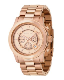 New Authentic Michael Kors Rose Gold Oversized Stainless Chronograph