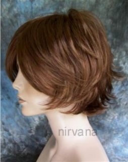 Nirvana Michelle Wig Large Size Short and Sexy 30H27 Auburn Red Mix