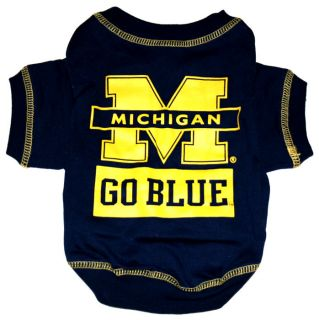 Michigan Wolverines Official NCAA Tee Shirt for Dogs