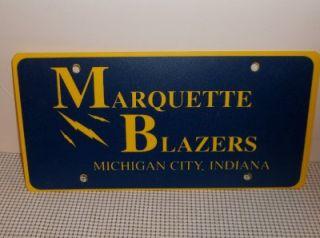 Michigan City Indiana Marquette Blazers License Plate New