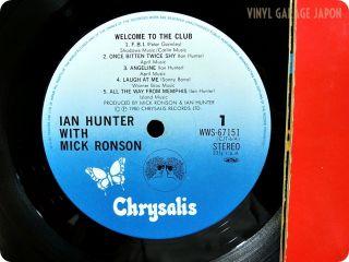 Ian Hunter NM Wax Mick Ronson Welcome to The Club 1980 Japan OBI 2LP