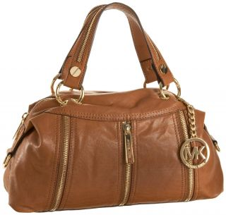 Michael Kors Moxley Large Satchel Brown Luggage BNWT
