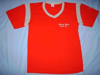 Mickey Gilley Red Vintage Honky Tonk Country Music Concert Tour T