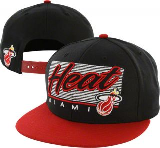 Miami Heat 47 Brand Kelvin Adjustable Snapback Flat Brim Hat