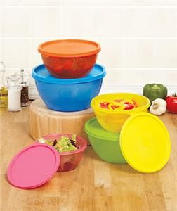 PIECE COLORFUL BOWL SET USE TO SERVE POPCORN CHIPS MORE MICROWAVE SAFE