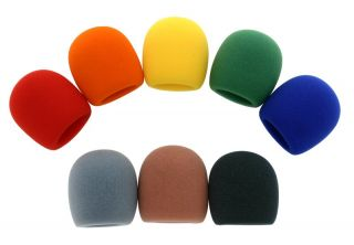 OSP Multi Color Microphone Windscreens Mic Covers Pop Filters 8 Pack
