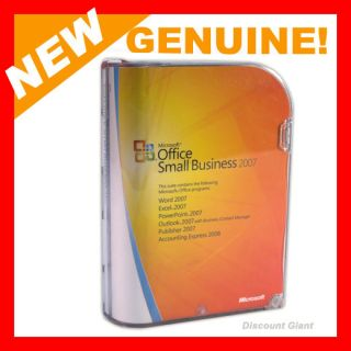 Genuine Microsoft Office Small Business 2007 Full Version New
