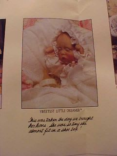 Lee Middleton Sweetest Little Dreamer Newborn Baby Doll