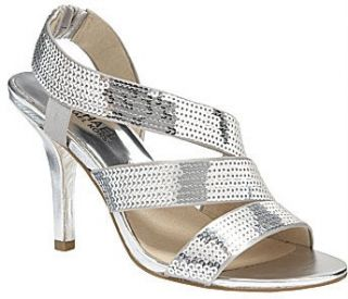 Michael Kors Farris Womens Dress Evening Heel Sequined Strappy Sandal