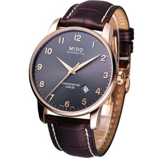 Mido Baroncelli Jubilee Automatic Cosc Swiss Watch Black Rose Gold