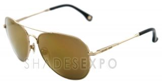 New Michael Kors Sunglasses MKS 144 Gold 720 MKS144 Auth