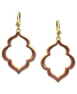 Tahari Earrings, Rose Gold Tone Crystal Drop Earrings   Fashion