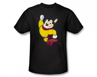 Mighty Mouse Classic Hero Vintage Style Cartoon T Shirt Tee