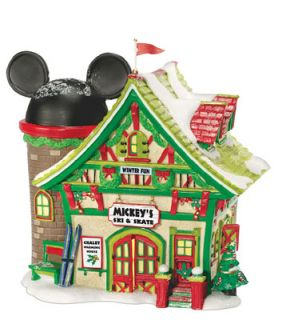 Dept 56 Disney Village Mickeys Ski and Skate Figurine