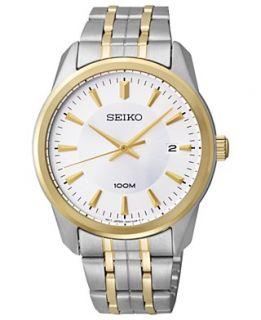 seiko watch men s black leather strap 32mm snf672 $ 185 00