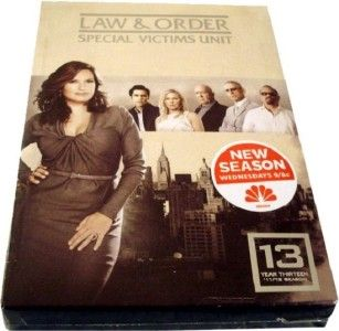 Law Order Special Victims Unit Year Thirteen 13 DVD 2012 5 Disc Set