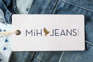 MIH JEANS Blue *MARRAKESH* Mid Rise Kick Flare Faded Blue Denim WJ77VI