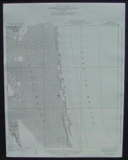 Lopena Island Padre Island Texas 1921 Topo Map