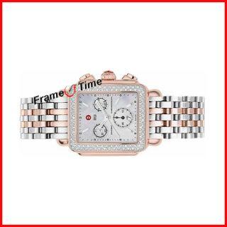 Michele Deco Rose Gold MOP Diamond Watch MWW06A000450