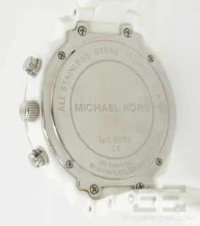 Michael Kors White Resin Stainless Steel Womens Watch
