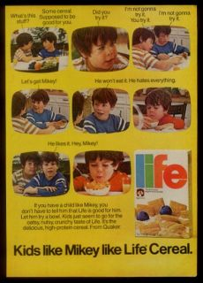 1979 Life Cereal Mikey Likes It TV Commercial Scenes Photo Vintage