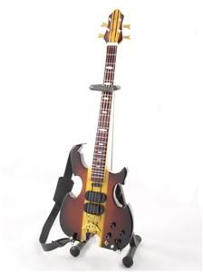 Miniature Bass Guitar John Paul Jones LED ZEPPELIN Alembic & Strap