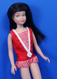 Vintage Midnight Skipper Doll RARE Coal Black Hair not A Reroot Mint