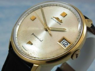 Mido Ocean Star 18K Solid Gold Powerwind Automatic Vintage Watch