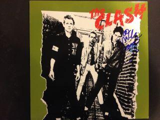 The Clash 1st LP Signed Autograph Mick Jones