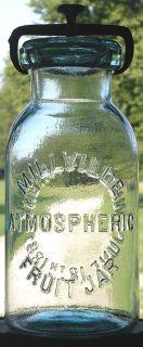 Millville Atmospheric Fruit Jar Quart Sharp