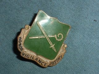 Di Unit Crest WW2 US Army 385th MP Military Police BN AH Dondaro