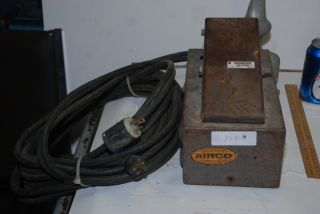 Airco Miller TIG Welding Foot Pedal Control with NEMA Style Plugs Inv