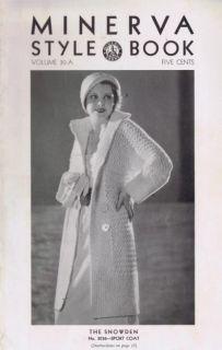 Vintage Knitting Crochet Patterns 1930s Evening Wrap Sweater Coats