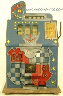 1936 Mills Novelty Castle Front 5c Antique Slot Machine
